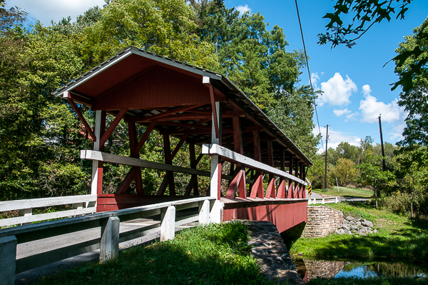 Just one of 14 covered bridges in Bedford County, PA