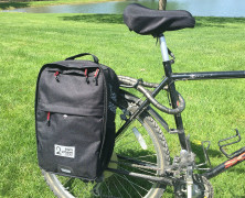 Two Wheel Gear – Pannier Backpack Convertible Black is at home on-or-off the bike